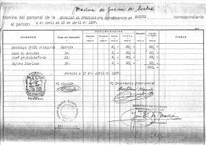 Guardacostas Plencia-Nómina Abril 1937