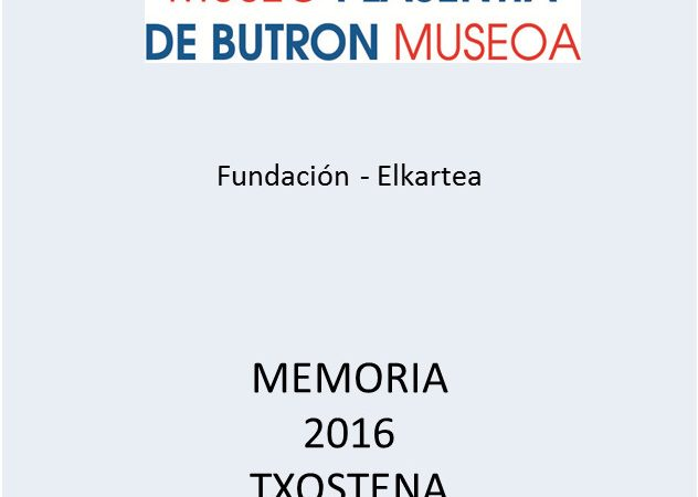 Already available the 2016 Report and catalogue of temporary exhibition