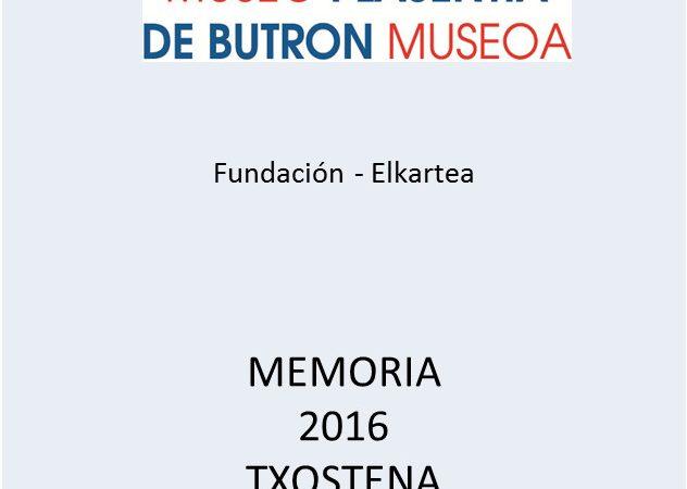 Disponibles la Memoria 2016, catálogo de la exposición temporal y nuevos estatutos